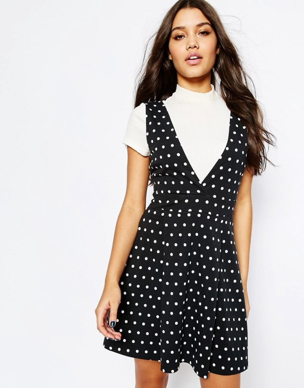 ASOS polka dot pinafore