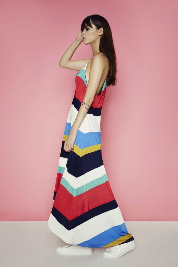 Striped maxi dress- €26