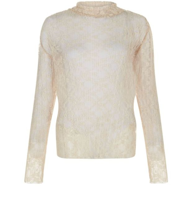 New Look AW16 cream lace top