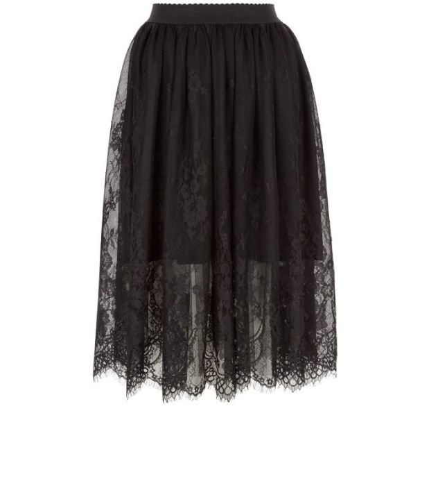 New Look AW16 lace skirt